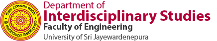 Department of Interdisciplinary Studies, Faculty of Engineering, University of Sri Jayewardenepura