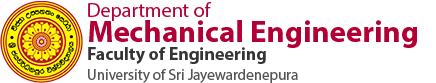 Department of Mechanical Engineering, Faculty of Engineering, University of Sri Jayewardenepura