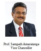 Japura VC, Prof. Sampath Amaratunge